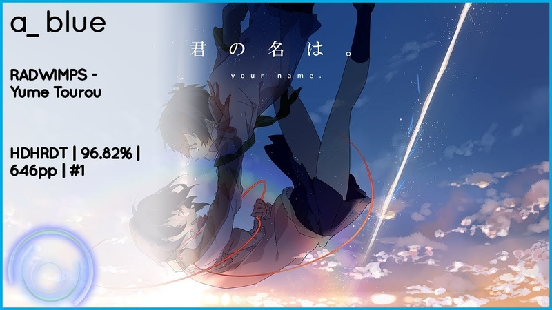 A Blue RADWIMPS Yume Tourou Extra: Mitsuha HDHRDT 96.82% 1SB 564 568 646pp 1