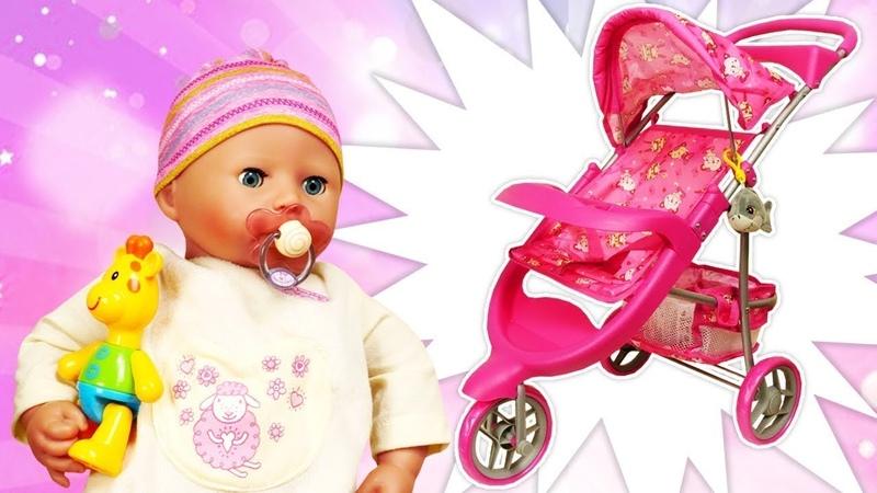 Spielspaß mit Puppen - Ein neuer Kinderwagen für unsere Baby Born Puppe