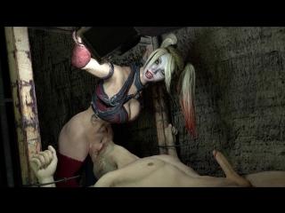 Futanari on male (18+) blowjob, bondage, deepthroat, oral sex, futa, shemale