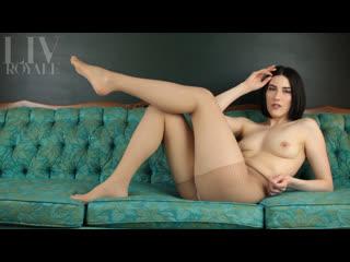 Liv royale - nude tease in sheer nylon pantyhose
