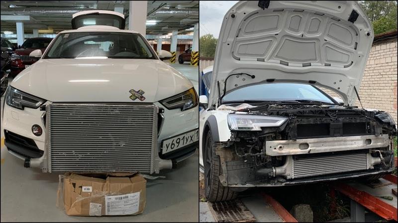 Замена турбы и интеркулер от Q7 4M на Audi A4 B9 Allroad Revo stage 2 / Замер температуры на впуске