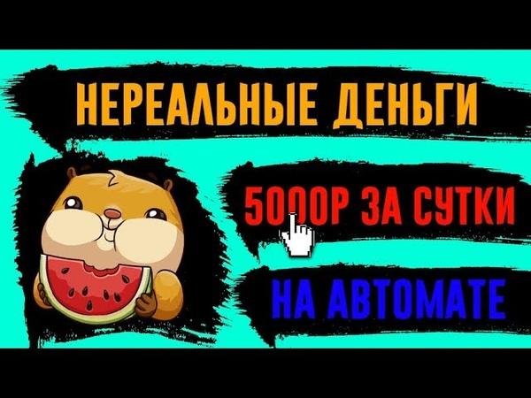 НЕРЕАЛЬНЫЙ заработок в интернете,НА АВТОМАТЕ,ИНВЕСТИРУЯ деньги/5000 РУБЛЕЙ ЗА СУТКИ!