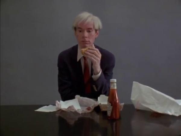 Andy Warhol eating a hamburger 1982 Jørgen Leth