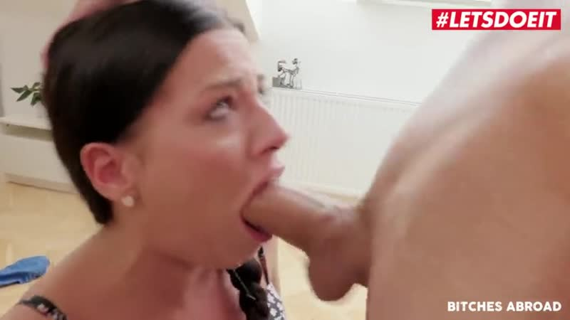 Petite Brunette Eveline Dellai Rides A Huge Cock On Her Trip( Porno, sex, new, hd, Порно, big, tits,