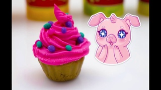How to Make Play-Doh Cupcake Super Easy. Fun lessons. Learning colors with play DOH.
