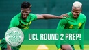 Bayo Johnston and Shved back training with Celtic ahead of UCL Round 2