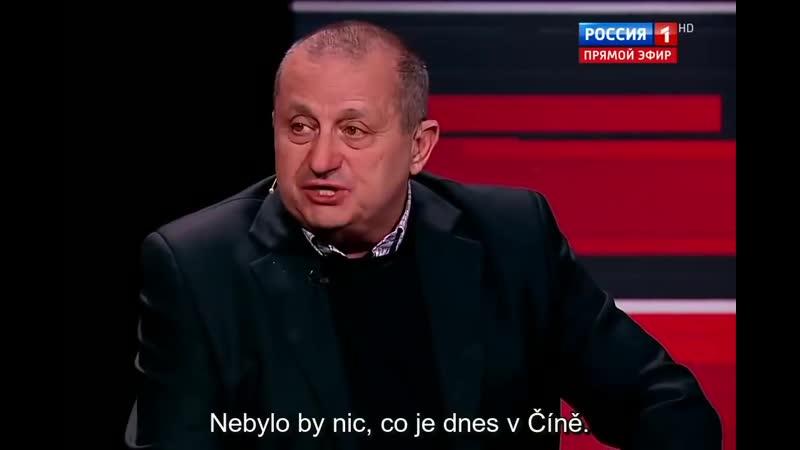 Jakov Kedmi vysvětluje proč Stalinova popularita roste. Večer se Solovjovem 16.4.2019