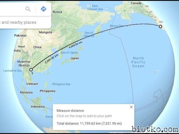 Thí nghiệm đường bay ngắn nhất từ Hà Nội đến San Francisco