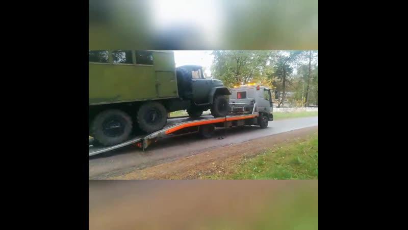 Погрузка Зил 131 для перевозки в Минске