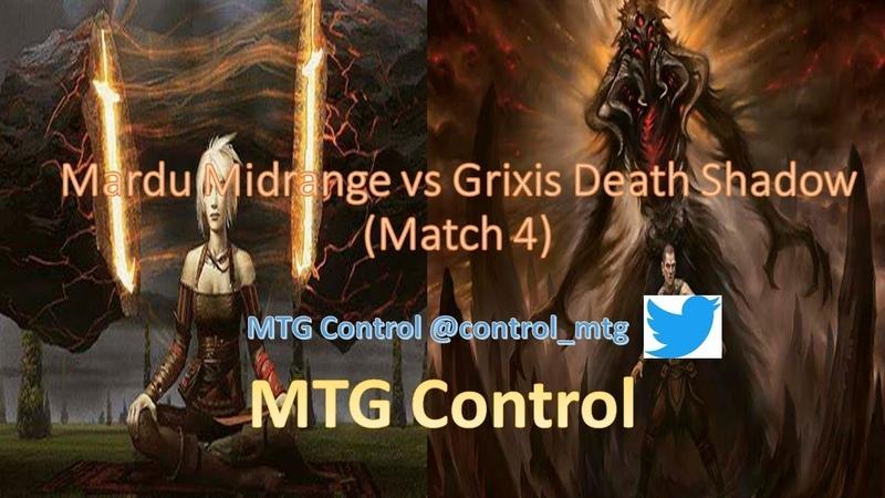 MTG Mardu Midrange vs Grixis Death Shadow - Match 4 - Modern