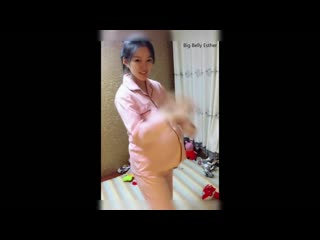 Asian pregnant 15 (twins pregnancy huge belly)