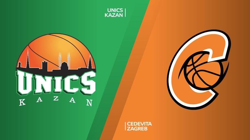 УНИКС Казань - Цедевита Загреб Хайлайты | 7DAYS EuroCup, T16 Раунд 3