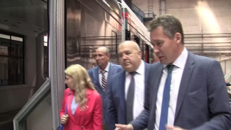 Уралтрансмаш посетила Е.А. Хлыбова — заместитель министра инвестиций и развития Свердловской области.