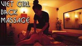 💆 Vietnamese Girl | Back Massage in a Dark Room | ASMR no Talking