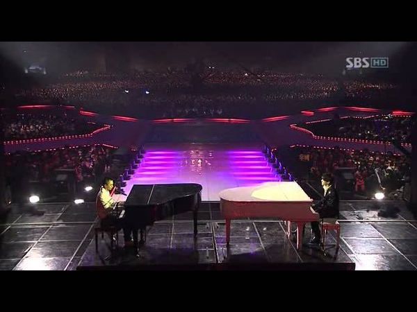 Piano battle-DBSK y Big Bang (Xiah Junsu vs Taeyang)