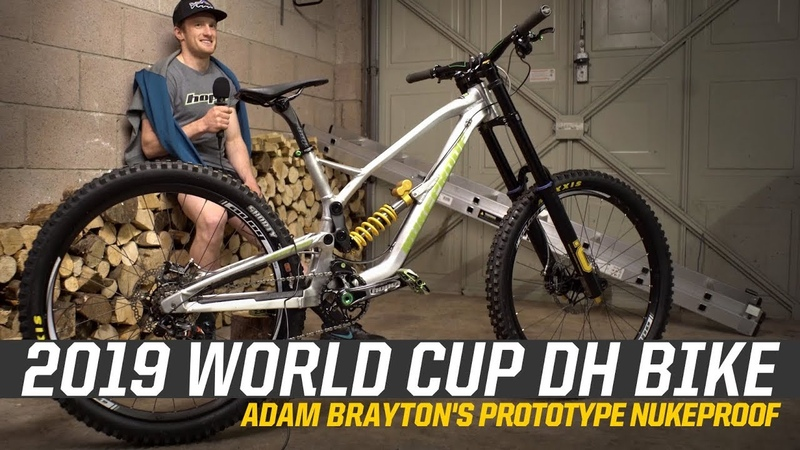 2019 World Cup DH Bike - Adam Braytons Prototype Nukeproof