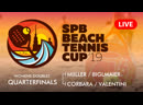 WOMENS DOUBLES QUARTERFINALS MIILLER BIGLMAIER vs CORBARA VALENTINI SPB BEACH TENNIS CUP 2019