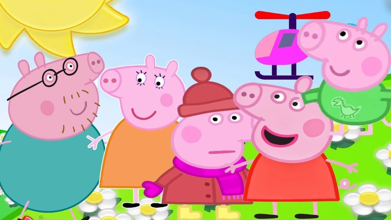 Peppa Pig and Finger Family Song are Cartoons for Children with English новые серии семья пальчиков