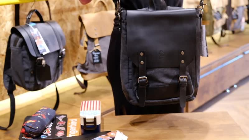 Рюкзак Ginger Bird Грасс трансформер черный 6190 Р