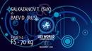 GOLD FS 70 kg T SALKAZANOV SVK v D BAEV RUS