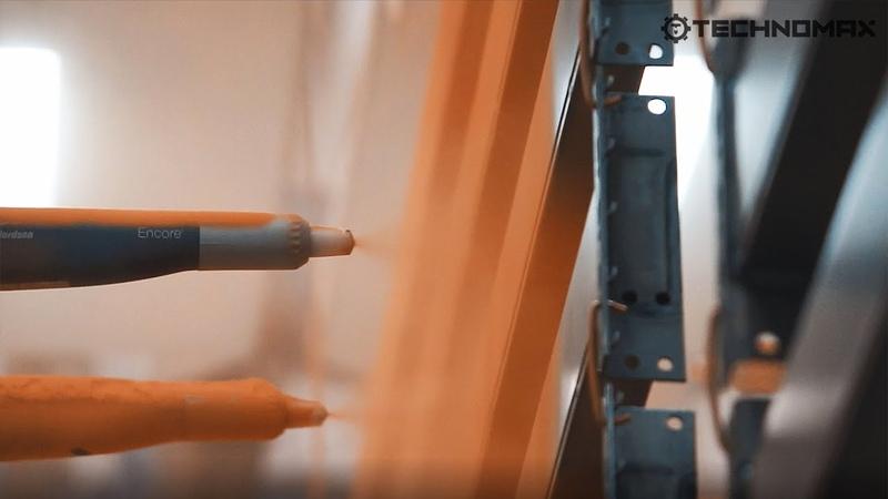 TECHNOMAX Линии порошковой окраски стеллажного оборудования