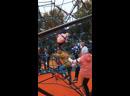 Открытие детской площадки и скульптуры «Волк и заяц»