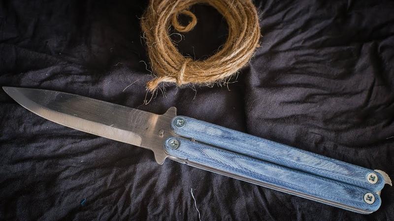 Нож бабочка своими руками Как сделать нож handmаde knife 手工刀 нож из пилы