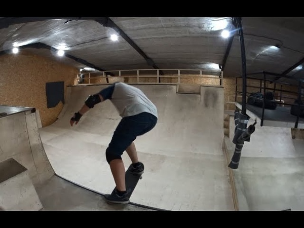 Поставил fakie 360 и fs 180 верте! Скейт влог тренировка в скейтпарк Red Deck!