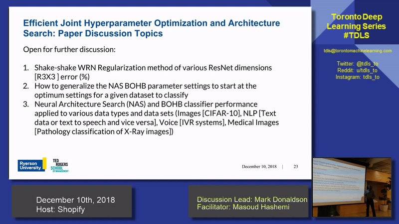 TDLS Automated Deep Learning Joint Neural Architecture and Hyperparameter Search discussions