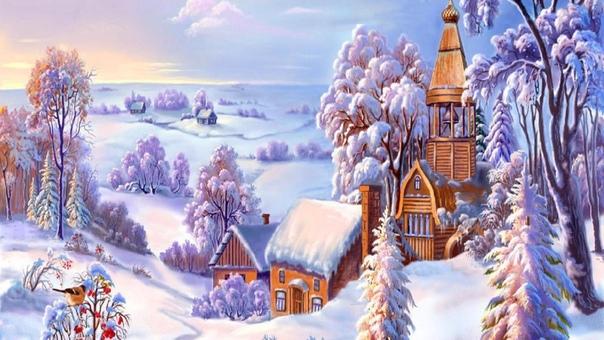 Обои На Телефон Новогодние И Зимний Пейзаж