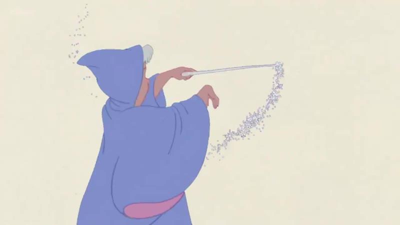 Cinderella - pencil test footage of original animation drawings