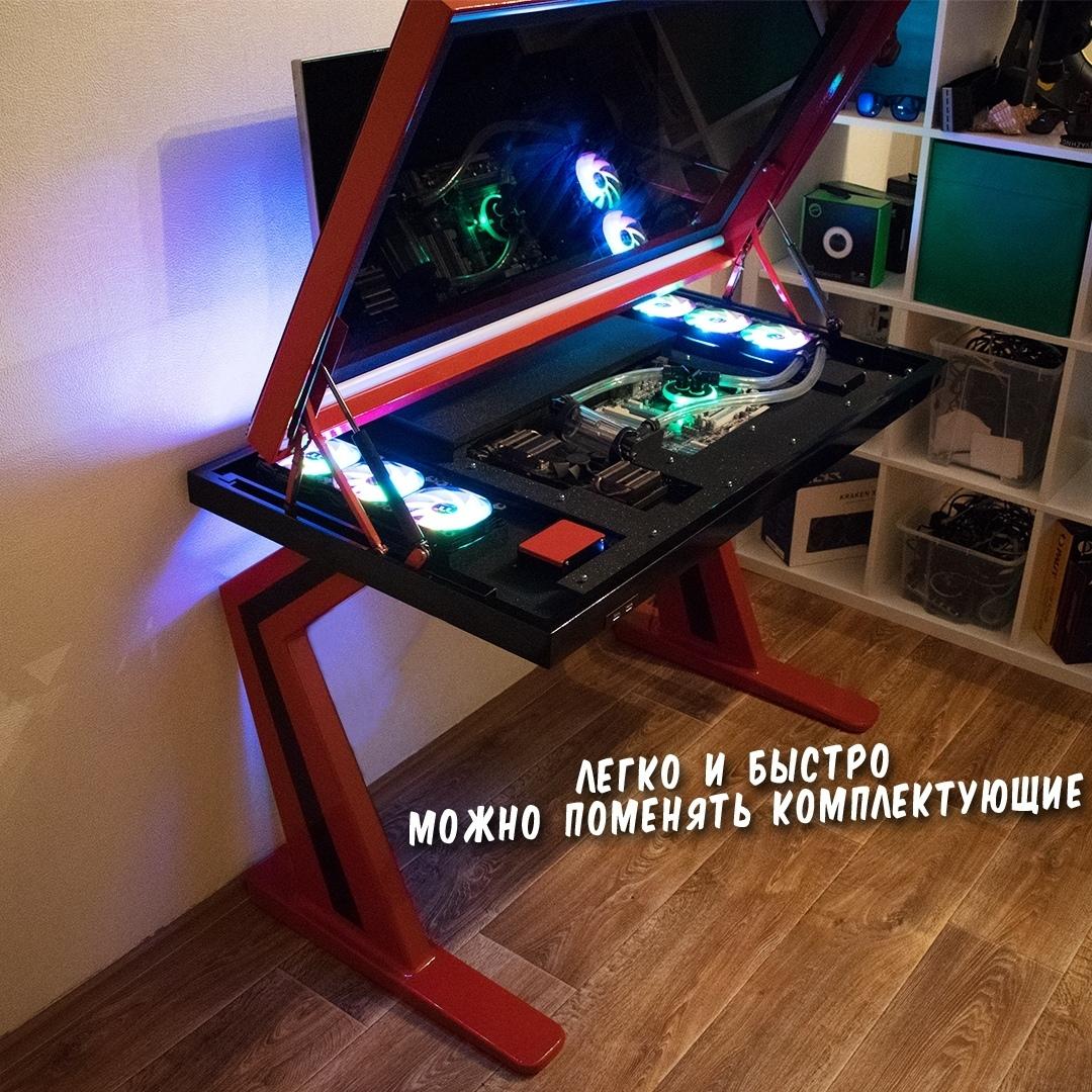Компьютер в столе (Изготовление и сборка)