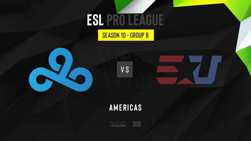 Cloud9 vs eUnited ESL Pro League Season 10 NA map3 de overpass MintGod