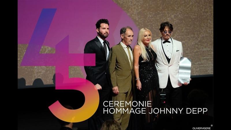 CEREMONIE HOMMAGE JOHNNY DEPP DIMANCHE 08 SEPTEMBRE