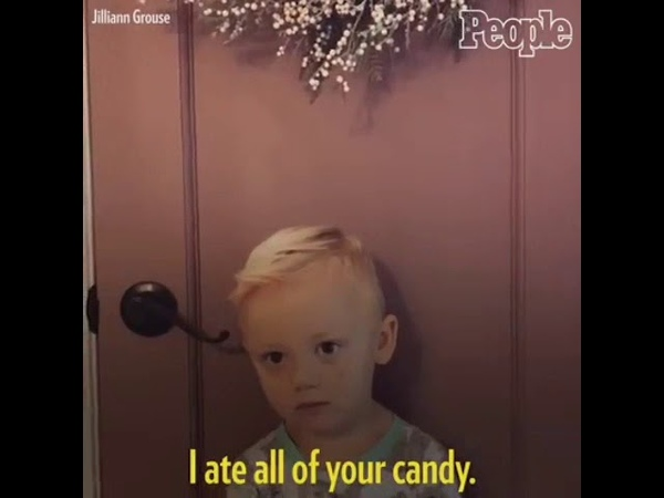 This 3-year-old had the best reply when his mother told him she ate all his Halloween candy.