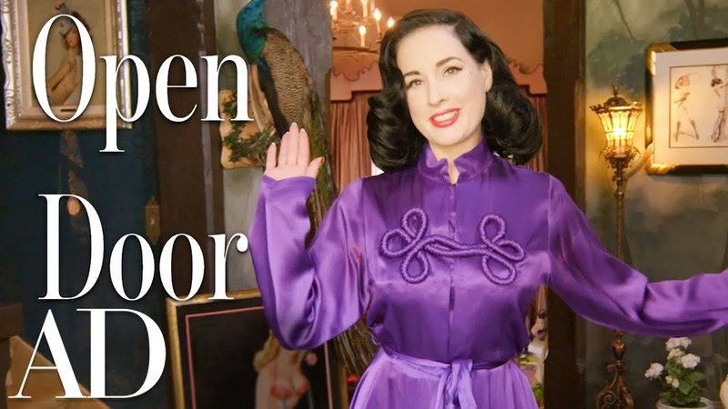 Inside Dita Von Teese's Taxidermy Filled Home Open Door Architectural Digest