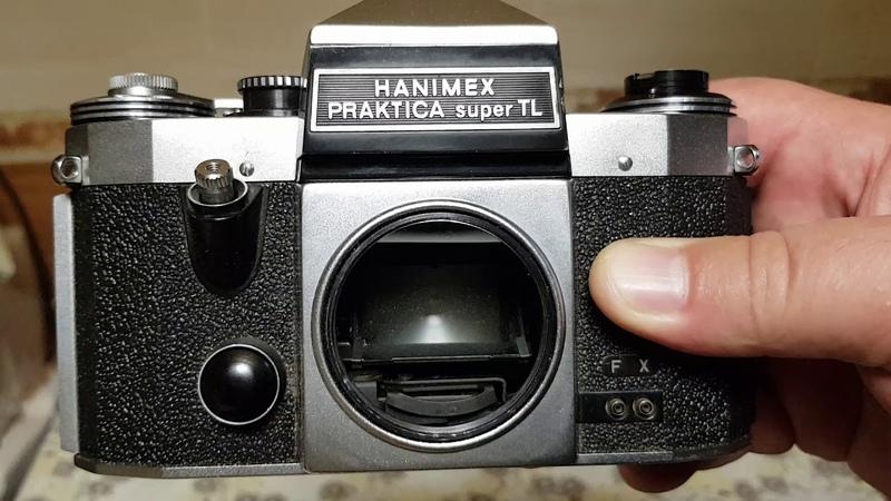 Фотокамера Hanimex Praktica Super Tl, хромированный корпус, измеритель чувствительный
