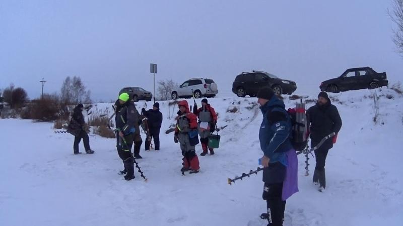 Первые соревнования, Кузбасской лиге по ловле на блесну со льда. 1 часть.