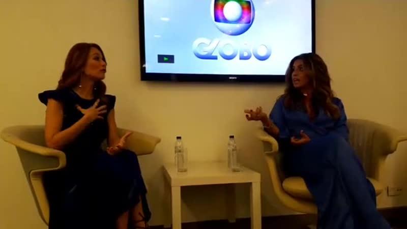 Пресс-конференция Джованны Антонелли и Марианы Шименес на Globo Portugal