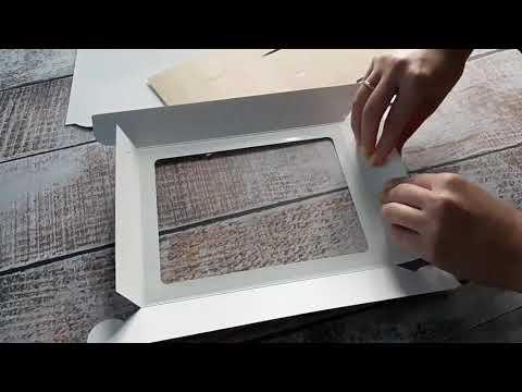 Сборка коробки на 12 конфет 230*180*52 мм крафт