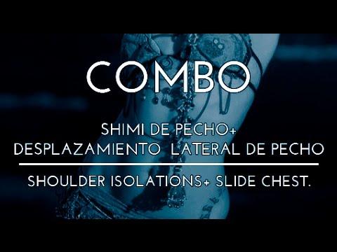 COMBO SHIMI DE PECHO DESPLAZAMIENTO LATERAL DE PECHO DANZA DEL VIENTRE TRIBAL FUSION