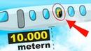 Was ist wenn Sie ein Flugzeugfenster in einer Höhe von 10 000 Metern öffnen