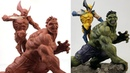 Sculpting HULK vs WOLVERINE Timelapse   Comics Version - Dr. Garuda