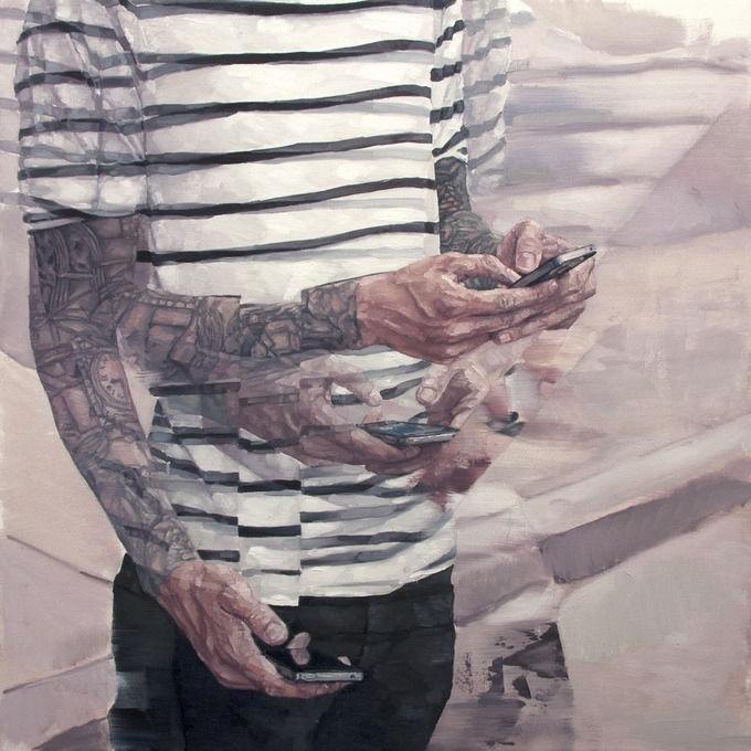 Внутренняя борьба на портретах от Адама Лаптона.