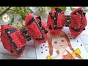 Бантики в черно-красных оттенках. Канзаши МК. / Bows in black and red shades. Kanzashi MK.