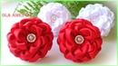 Канзаши Цветы из репсовых лент DIY Grosgrain Ribbon Flowers Flores de fita Ola ameS DIY