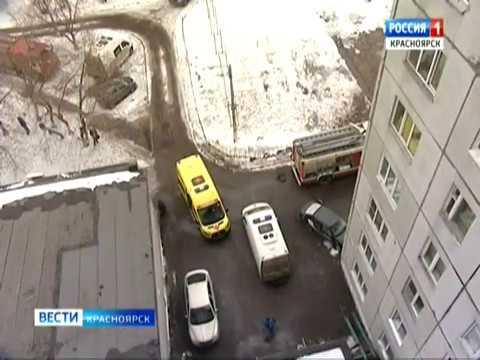 Анонс: в Красноярске большой пожар случился в общежитии на улице Калинина