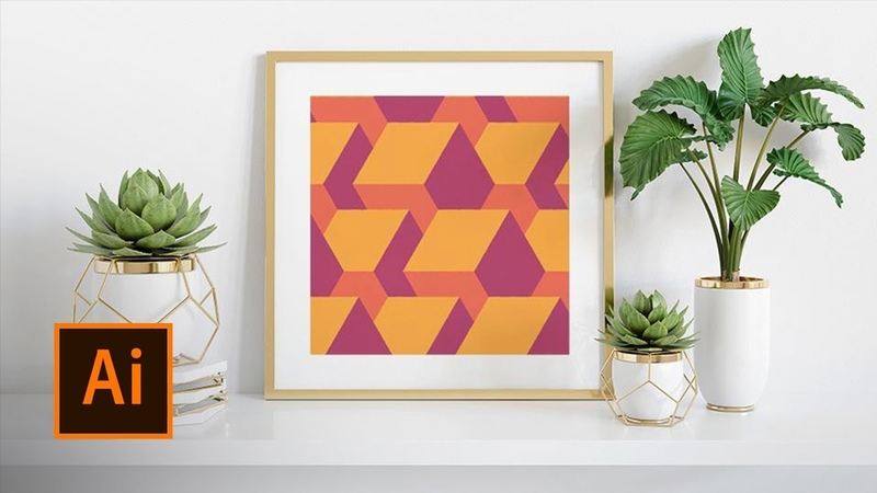 How to Make a Modern Geometric Pattern in Illustrator Adobe Creative Cloud