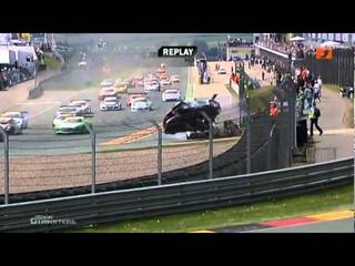 BIG START CRASH 2011 ADAC GT Masters at Sachsenring Mercedes-Benz SLS AMG GT3