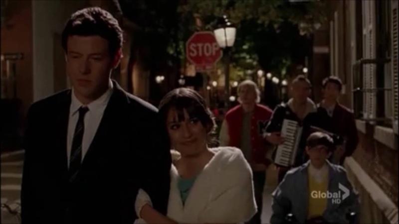 Glee Bella Notte Finchel date scene 2x22